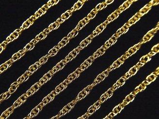 天然石卸 14KGF ロープチェーン 1.7mm 10センチ320円!