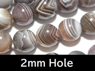 天然石卸 ボツワナアゲート ラウンド12mm 【2mm穴】 半連/1連(約38cm)