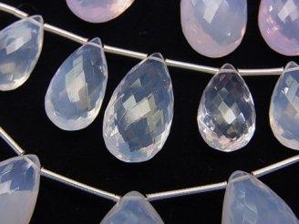 天然石卸 粒売り!極上カット!宝石質スコロライトAAA ペアシェイプ ブリオレットカット 1粒2,380円!