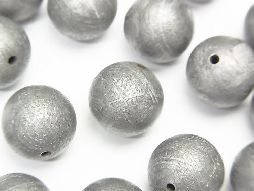 【粒売り】メテオライト(ムオニナルスタ隕石) ナチュラルカラー ラウンド12mm 1粒