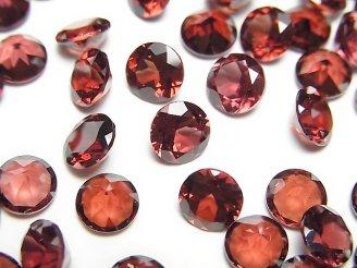 天然石卸 宝石質ガーネットAAA 穴なしブリリアントカット6×6×3 5粒680円!