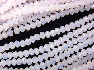 天然石卸 1連220円!ガラスビーズ ボタンカット3×3×2 ベビーピンク 1連(約36cm)