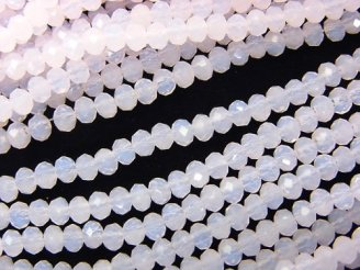 天然石卸 1連220円!ガラスビーズ ボタンカット3×3×2mm ベビーピンク 1連(約36cm)
