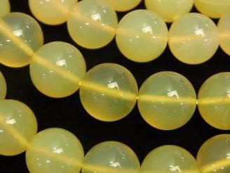 天然石卸 イエローオパールAA++ 大粒ラウンド12mm 1/4連〜1連(約38cm)