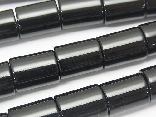 オニキス 円柱(チューブ)形状16×12×12mm 半連/1連(約37cm)