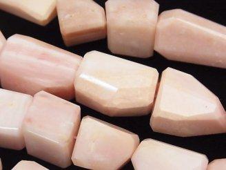 天然石卸 1連11,800円!宝石質ピンクオパールAAA- タンブルカット 1連(約36cm)