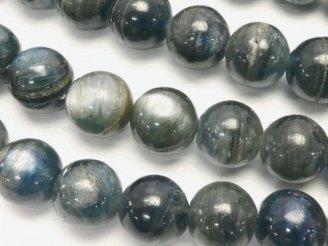 天然石卸 ケニア産カイヤナイトAA++ ラウンド10mm 1/4連〜1連(約38cm)