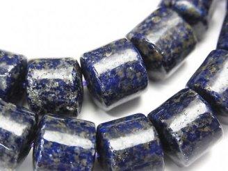 天然石卸 1連1,980円!ラピスラズリAA+ チューブ10×11×11mm 1連(ブレス)
