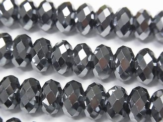 天然石卸 高純度テラヘルツ鉱石 ボタンカット10×10×6 半連/1連(約38cm)