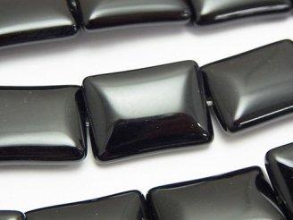 天然石卸 オニキス レクタングル25×18×8mm 半連/1連(約35cm)