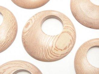 天然石卸 ローズウッド コイン(ドーナツ)40×40×6mm 2枚280円!
