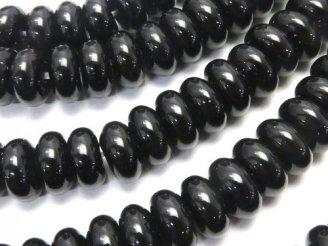 天然石卸 1連780円!オニキス ロンデル(ボタン)8×8×4 1連(約38cm)