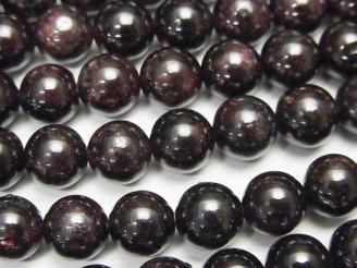 天然石卸 ◆SALE◆1連680円!ガーネットAA- ラウンド8mm 1連(約40cm)