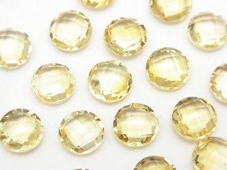 天然石卸 宝石質シトリンAAA 穴なしコインカット9×9×4 4粒680円!