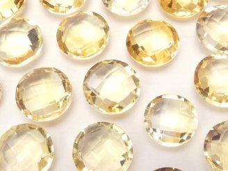 天然石卸 宝石質シトリンAAA 穴なしコインカット10×10×5 3粒680円!