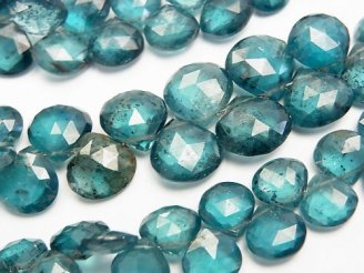 天然石卸 宝石質ディープブルーカイヤナイトAAA マロン ブリオレットカット 1/4連〜1連(約18cm)