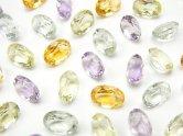 天然石卸 宝石質いろんな天然石AAA オーバル ファセットカット7×5×3 8粒・1連(ブレス)