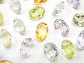 天然石卸 宝石質いろんな天然石AAA オーバル ファセットカット8×6×4 8粒・1連(ブレス)
