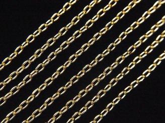 天然石卸 14KGF 長小豆(あずき)チェーン 1.6mm 10センチ280円!