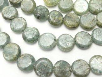 天然石卸 1連480円!ケニア産カイヤナイトA++ コイン8mm 1連(約37cm)
