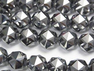 天然石卸 素晴らしい輝き!高純度テラヘルツ鉱石 スターラウンドカット10mm 1/4連〜1連(約36cm)