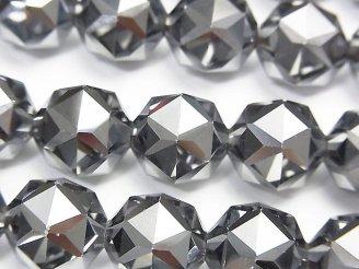 天然石卸 素晴らしい輝き!高純度テラヘルツ鉱石 スターラウンドカット12mm 1/4連〜1連(約36cm)