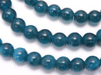 天然石卸 1連2,980円!ブラジル産ブルーアパタイトAAA-〜AA++ ラウンド6mm 1連(ブレス)