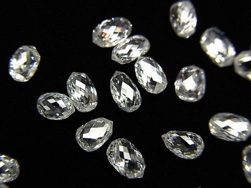 【動画】ホワイトダイヤモンドAAA ドロップ〜ペアシェイプ ブリオレットカット 1粒