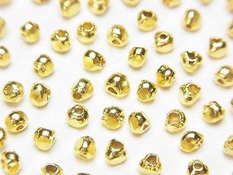 天然石卸 カレンシルバー ロンデル(トライアングル)3×3×2.5mm 18KGP 10粒480円!