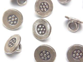 天然石卸 カレンシルバー コイン型チャーム(コンチョ)10×10×6 1個200円!