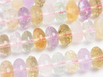 天然石卸 宝石質いろんな天然石AA++ ボタンカット10×10×6 1/4連〜1連(約38cm)