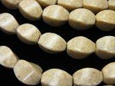 天然石卸 リバーストーン 4面ツイストライスカット12×8×8 半連/1連(約38cm)
