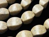 天然石卸 リバーストーン 4面ツイストライスカット14×10×10 半連/1連(約37cm)