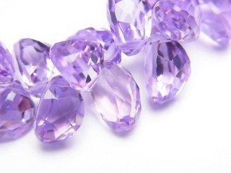 天然石卸 宝石質ローズアメジストAAA オーバル ファセットカット 6粒〜1連(ブレス)