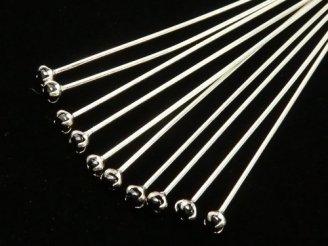 天然石卸 Silver925 飾りTピン(CZ付) ブラック 【0.5×25】【0.5×30】【0.5×40】 10本