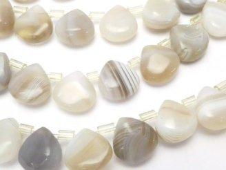 天然石卸 ホワイトサードニクス マロン10×10×5 半連/1連(約37cm)
