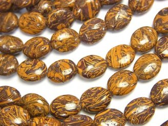 天然石卸 1連680円!エレファントスキン ジャスパー オーバル10×8×5 1連(約38cm)