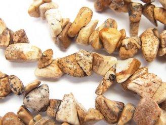 天然石卸 1連180円!ピクチャージャスパー チップ(ミニタンブル) 1連(約82cm)
