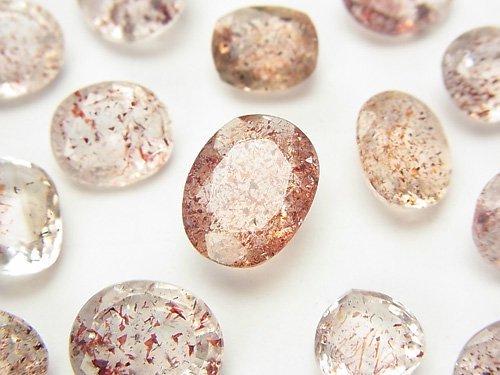宝石質レピドクロサイトインクォーツAAA 穴なしファセットカット 3粒3,980円!