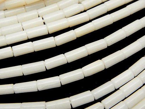 ホワイトコーラル チューブ8×3×3mm 1連(約37cm)