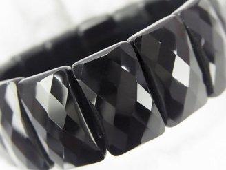 天然石卸 1連1,780円!オニキスAAA- 2つ穴レクタングルカット20×12×6 1連(ブレス)