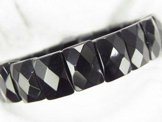天然石卸 1連1,380円!オニキスAAA 2つ穴レクタングルカット12×8×6 1連(ブレス)