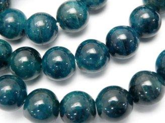 天然石卸 1連4,980円!ブラジル産ブルーアパタイトAAA-〜AA++ ラウンド10mm 1連(ブレス)