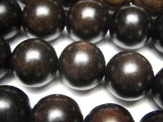 天然石卸 1連780円!エボニー(黒壇) セミラウンド20mm 1連(約38cm)