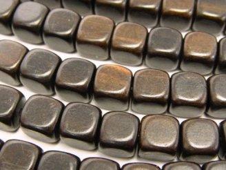 天然石卸 1連420円!エボニー(黒壇) キューブ8×8×8mm 1連(約38cm)