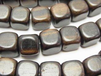 天然石卸 1連480円!エボニー(黒壇) キューブ10×10×10mm 1連(約38cm)
