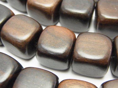 エボニー(黒壇) キューブ15×15×15mm 1連(約38cm)