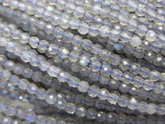 天然石卸 1連1,180円!宝石質ラブラドライトAAA 極小ラウンドカット2mm 1連(約38cm)