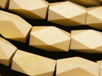 天然石卸 1連480円!ホワイトウッド レクタングルチューブカット20×10×10mm 1連(約37cm)