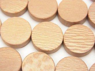 天然石卸 1連380円!ローズウッド コイン15×15×5 1連(約38cm)